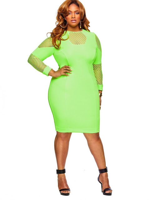 Neon Colored Plus Size Clothing Para Gorditas: Ropa Maquillaje Peinados Dietas