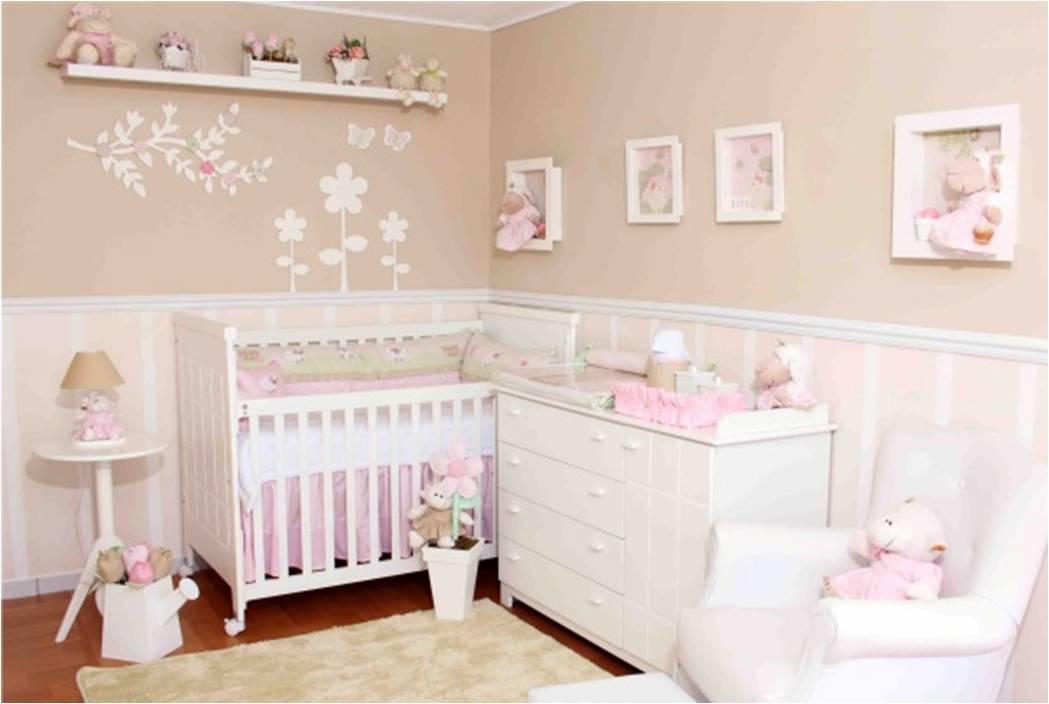 Chambre bébé fille en gris et rose - 27 belles idées à partager - peinture chambre bebe fille