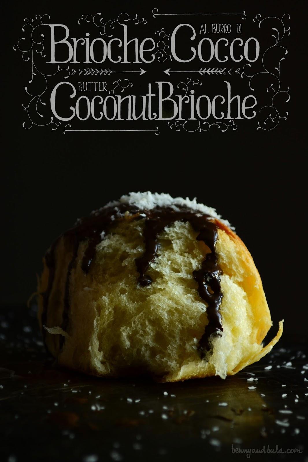 Brioche al cocco senza burro/ Coconut butter brioches