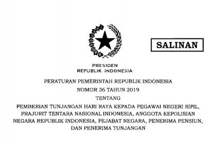 Aturan THR (Tunjangan Hari Raya) untuk PNS, TNI, POLRI dan Pejabat Negara