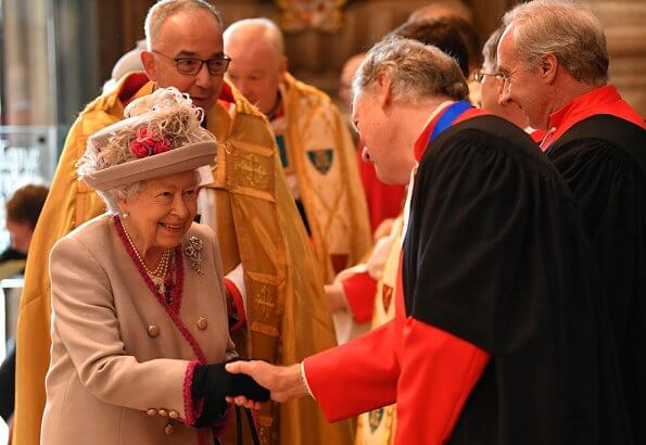 Queen Elizabeth and the Duchess of Cornwall attended a service to celebrate the 750th anniversary of Westminster Abbey