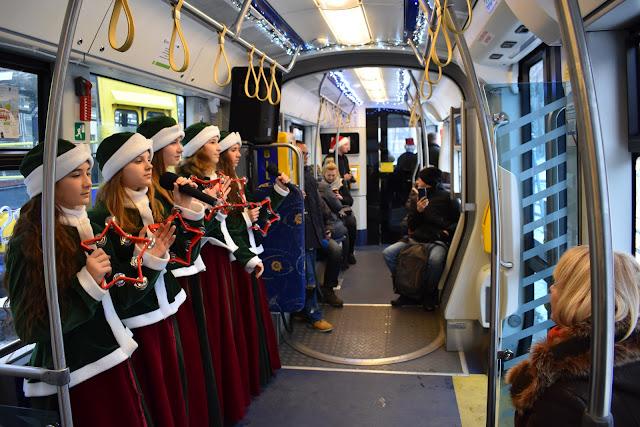 Świąteczny tramwaj Toruń