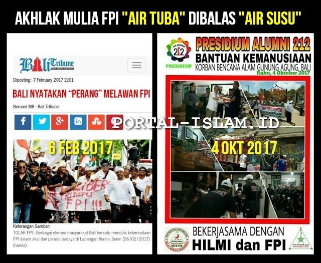 SUBHANALLAH.. Akhlak Mulia FPI di Bali, Air Tuba Dibalas Air Susu
