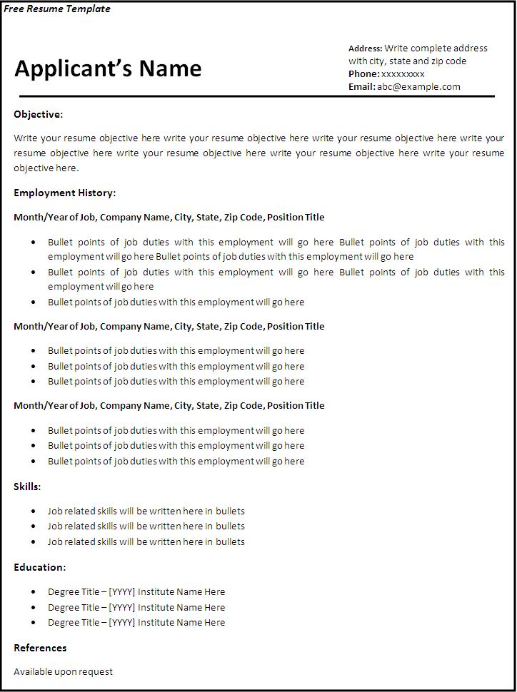 libre office cv modele