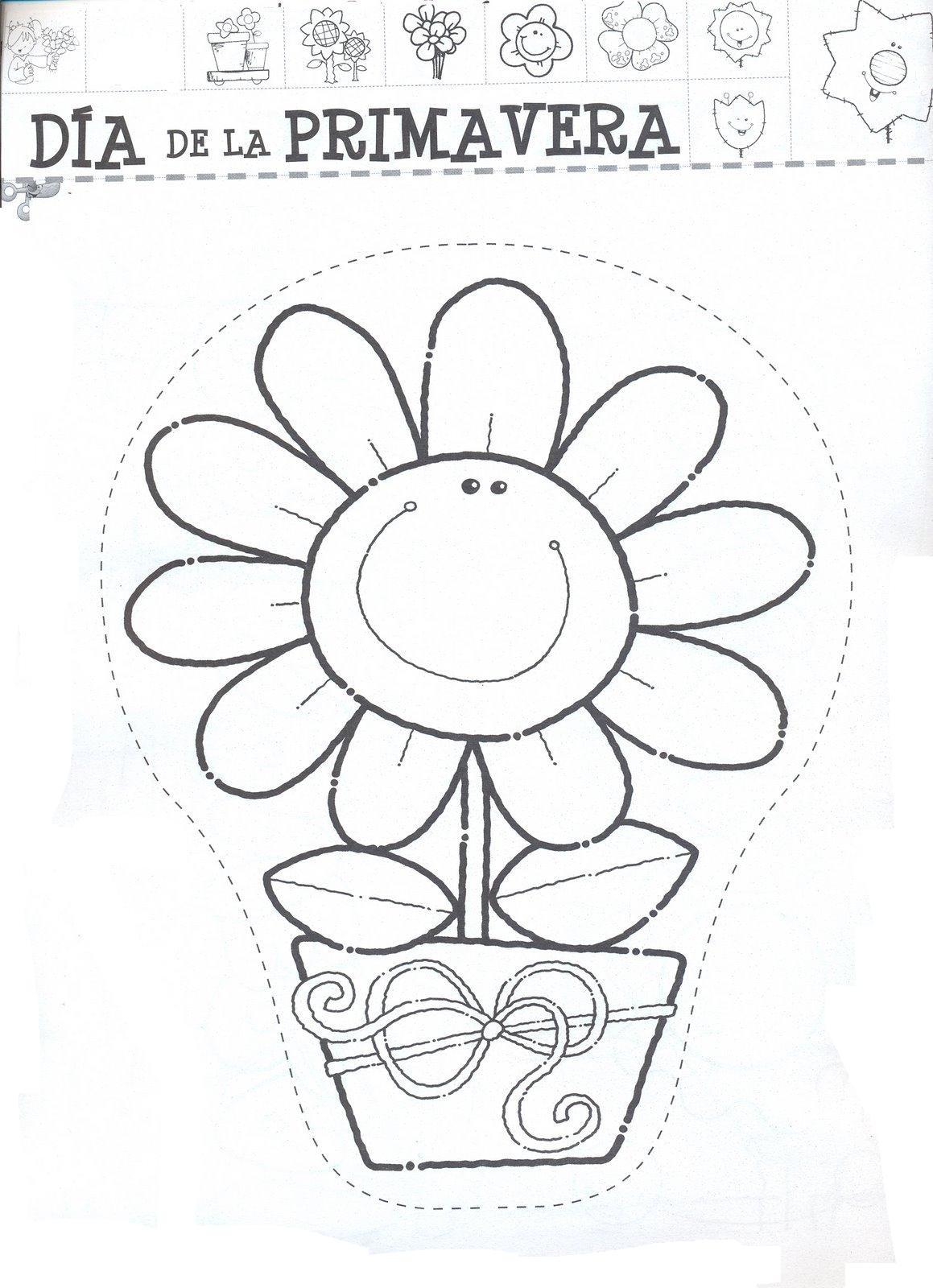 El rincon de la infancia: Día de la primavera dibujos para pintar