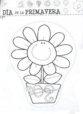 El Rincon De La Infancia Día De La Primavera Dibujos Para Pintar