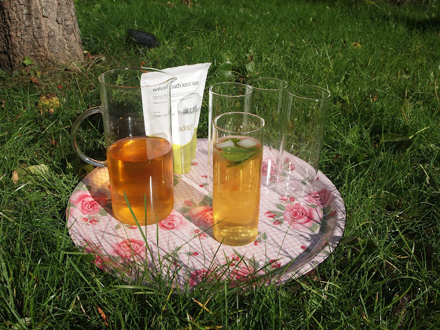 Adagio iced tea in the garden
