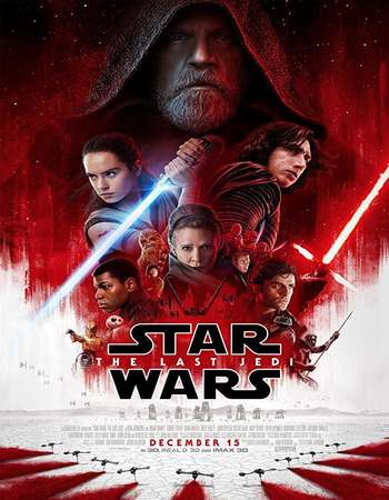 Star Wars The Last Jedi 2017 Hindi ORG Dual Audio 220MB BluRay HEVC Mobile ESubs