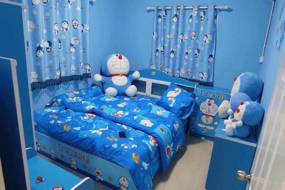 Phòng ngủ Doremon màu xanh dương