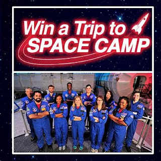 Enter to win a trip to Space Camp (for adults). Ends 5/18