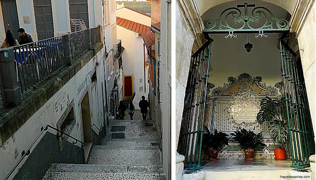 Escadarias no Centro Histórico de Coimbra
