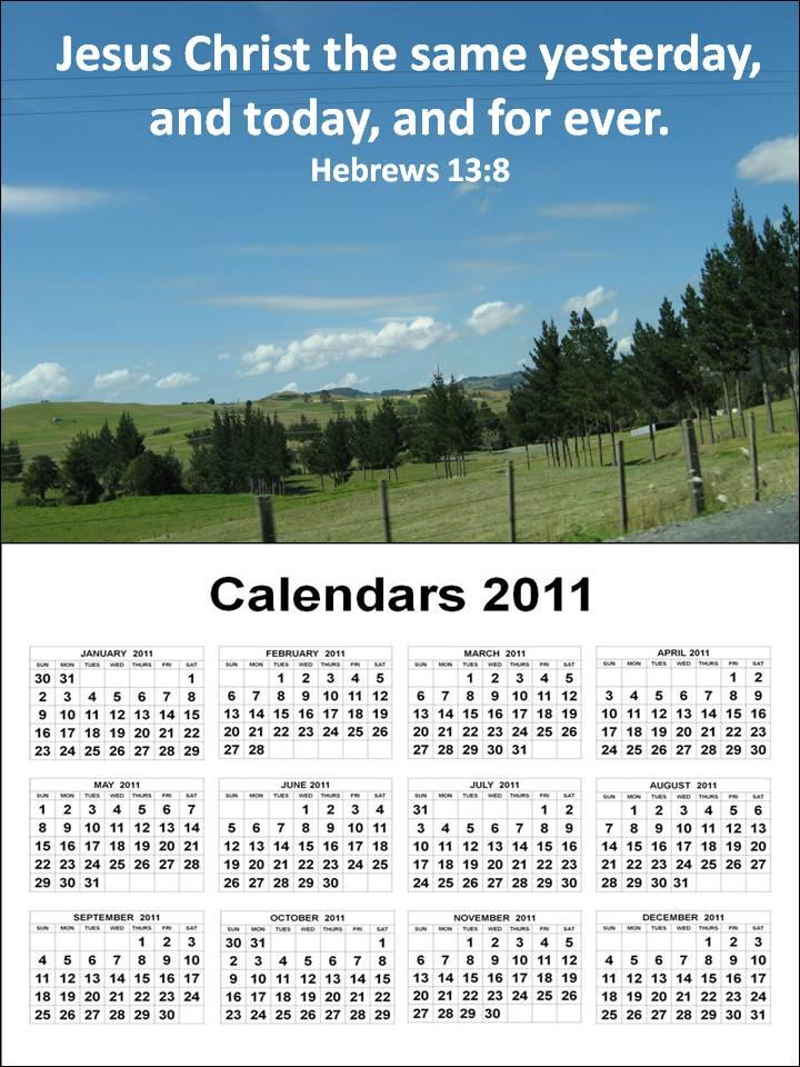Bengawan Solo: calendar 2011 printable one page
