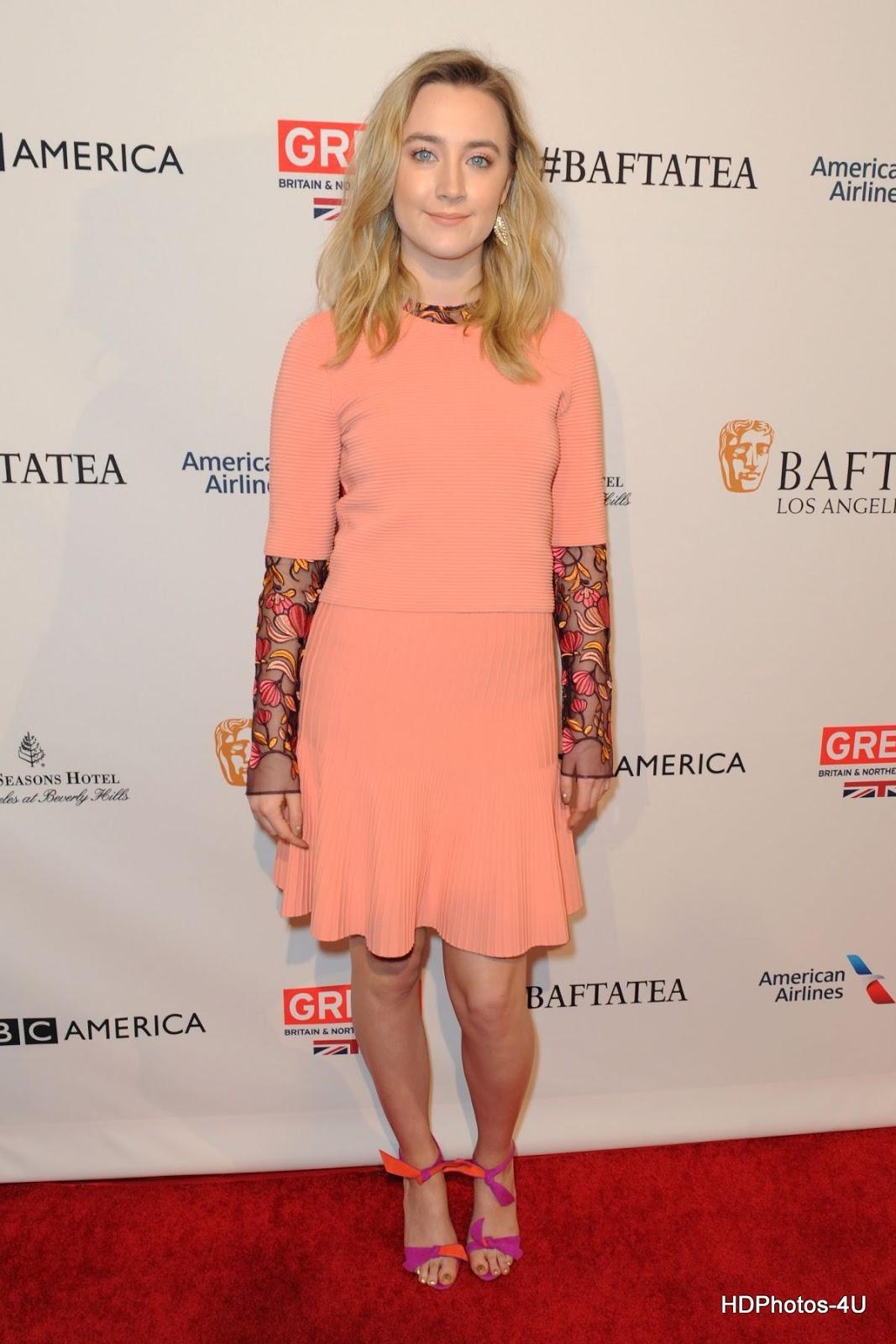 Full HQ Photos of 'Loving Vincent' actress Saoirse Ronan at BAFTA Los Angeles Awards Season Tea in Los Angeles