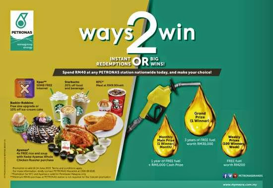Winner List Updated] PETRONAS Ways2Win Contest: Win Up to 3 Years of