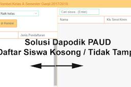 Solusi Daftar Siswa Dalam Anggota Rombel Kosong / Tidak Tampil di Aplikasi Dapodik PAUD Versi 3.1.0