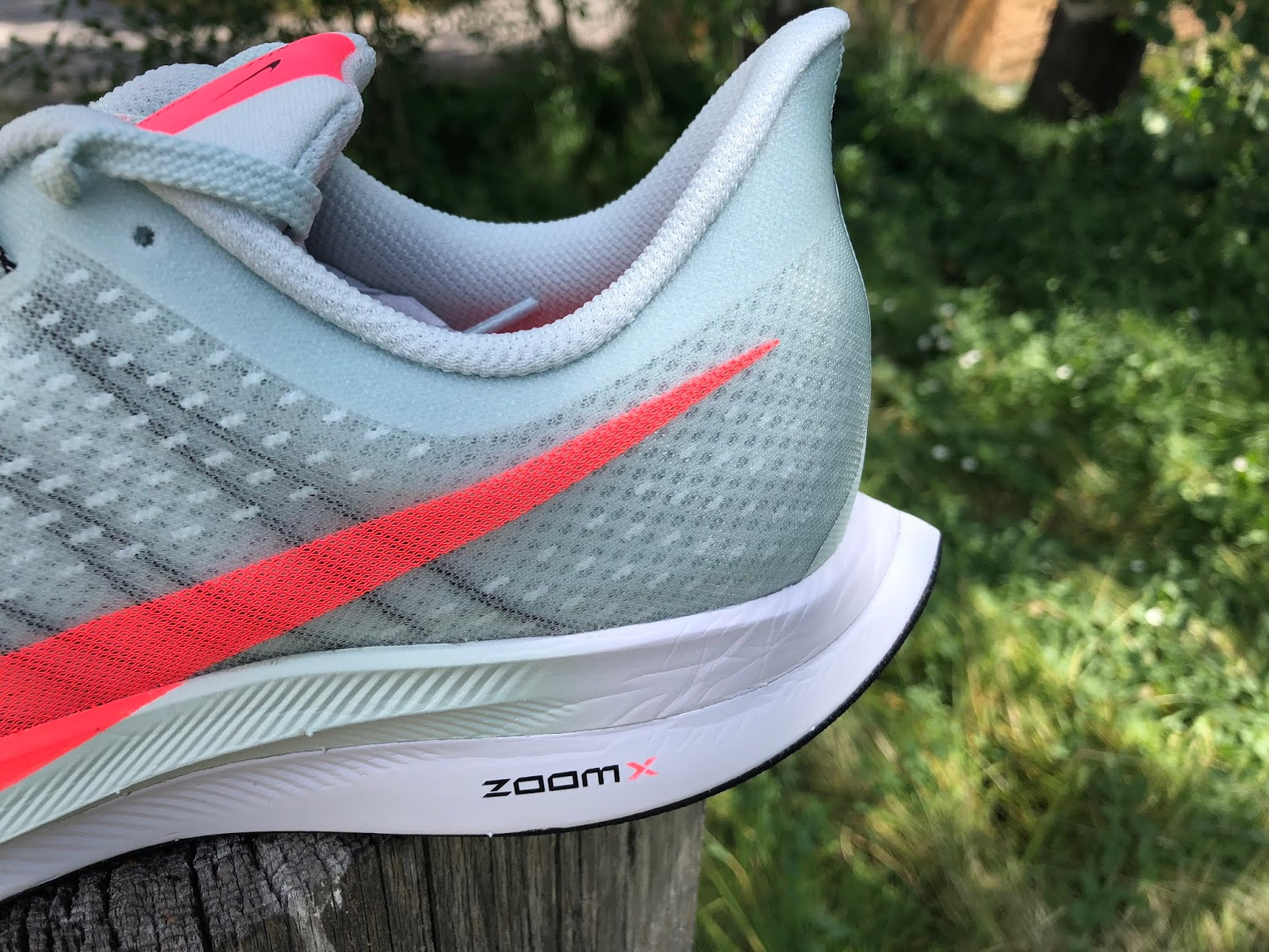 521cf9bd807e3 Sam  The Zoom X midsole is the star feature. Nike tells us the entire  midsole is Zoom X which we understand is a PEBA based foam and not the  usual EVA.