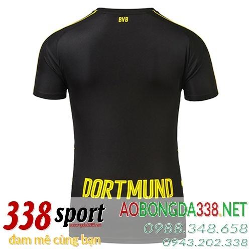 mẫu áo dortmund đen sân khách 2017 mặt sau