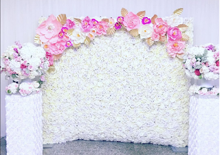 Flower and paper wall decor