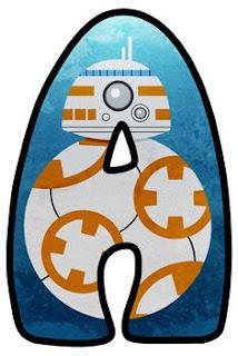 Abecedario de BB8 de Star Wars.