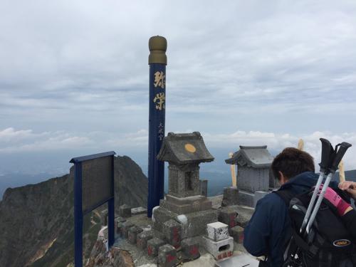 赤岳山頂(2,899m)の赤獄神社