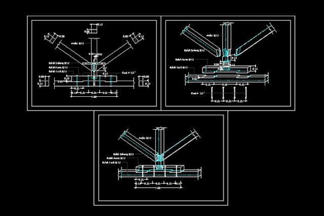 Gambar Kerja Isometri Kuda Kuda File Dwg Kaula Ngora Kumpulan