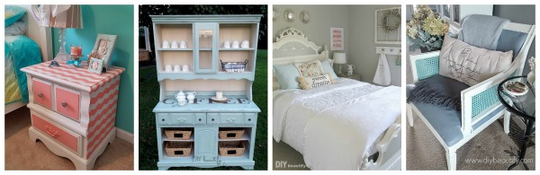 painted furniture with wax top coat protection