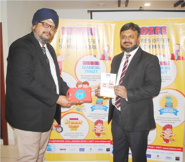 Kidzee Learning Tablet Launch- Mr. Sukhvinder Singh Bindra, Kidzee's Business Head & Mr. Abhinav Upadhyay, Head - Marketing & Innovation, Zee Learn Ltd