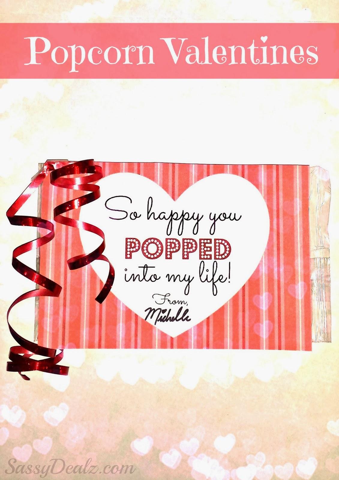 Diy Popcorn Valentine S Day Classroom Treat Idea For Kids