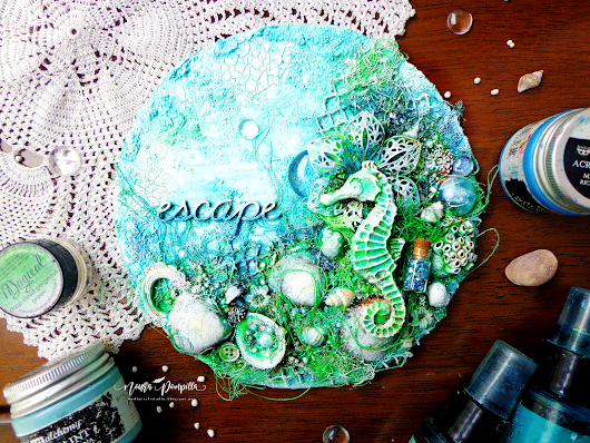 "Mini Canvas""Escape""for GD at Mixed Media & Art"