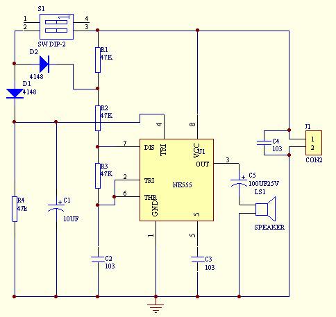 HomeMade DIY HowTo Make Simple doorbell circuit using 555 timer +