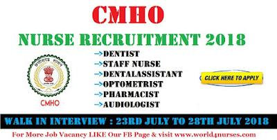 CMHO Staff Nurse Recruitment 2018