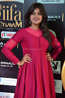 Monal Gajjar in Maroon Gown Stunning Cute Beauty at IIFA Utsavam Awards 2017 018.JPG