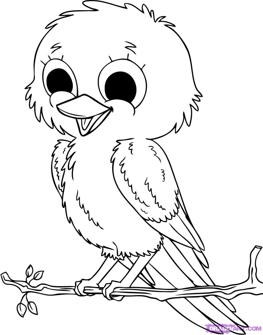 Selection Cute Baby Animal Coloring Pages
