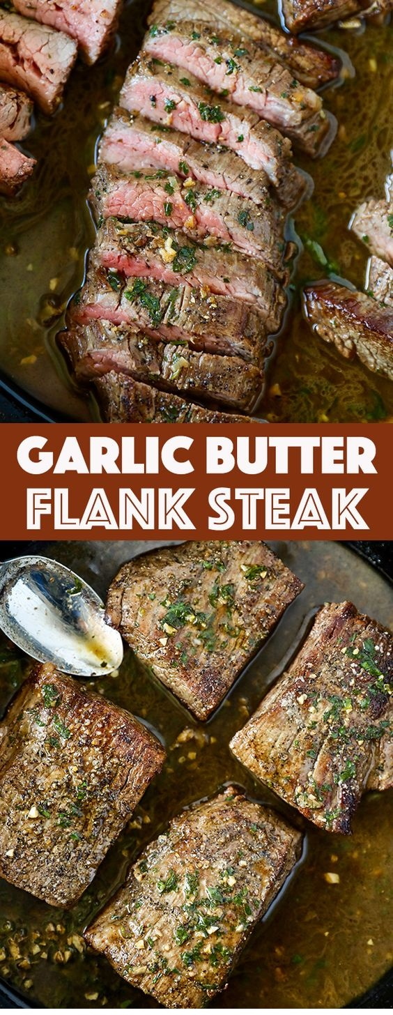 Garlic Butter Skillet Flank Steak Oven Recipe