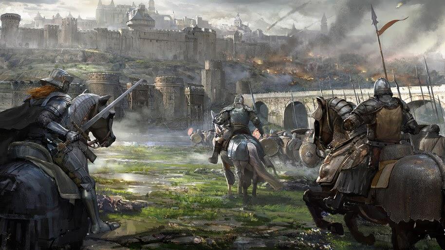 Knight, Castle, Siege, Medieval, Battle, Fantasy, 4K, #4.973