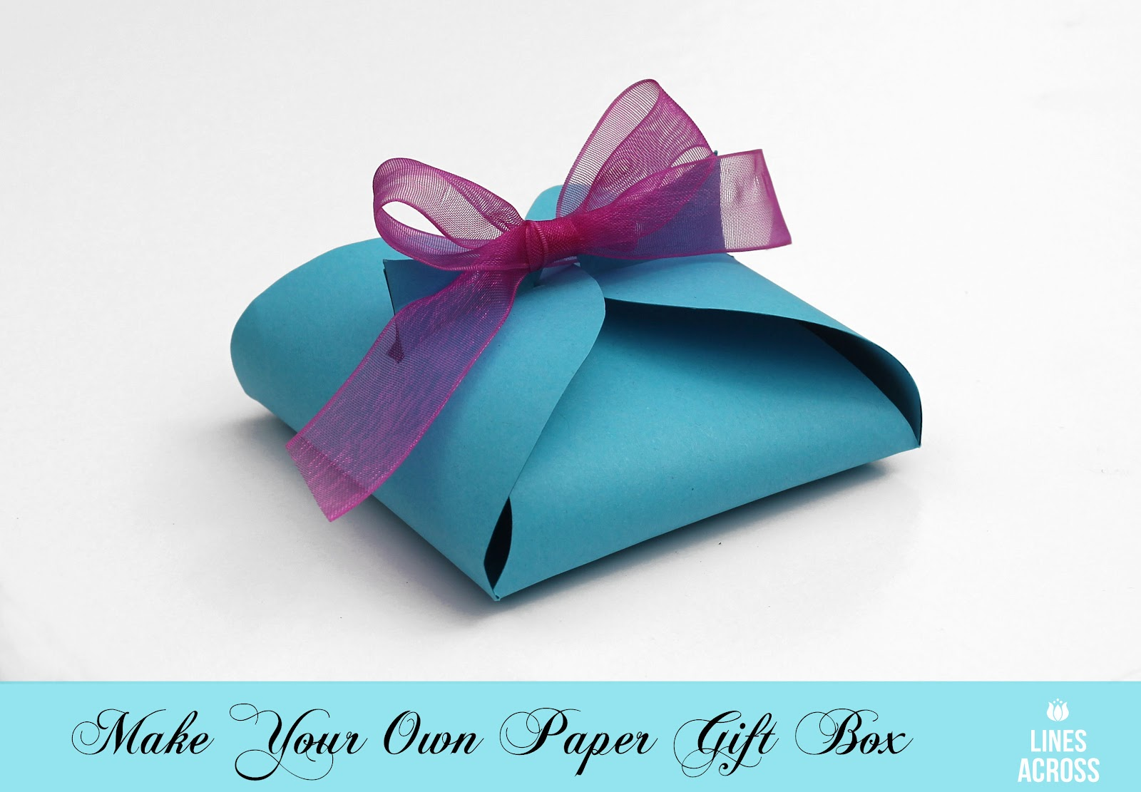 Greatest Make Your Own Paper Gift Box - Lines Across LT81