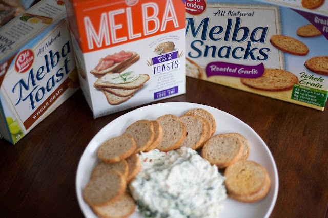 Easy Spinach & Veggie Dip with Old London Melba Toasts®