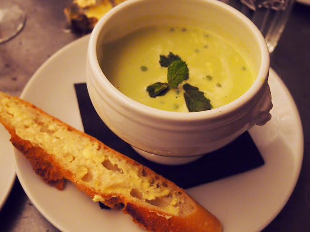 Pea and Mint soup Aubain