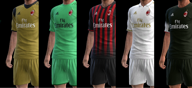 wholesale dealer ab69b f89ba AC Milan Kit Season 16/17 PES 2013 - PATCH PES | New Patch ...
