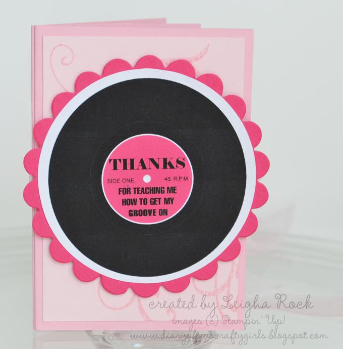 Dance Teacher Thank You Gift Card Holder