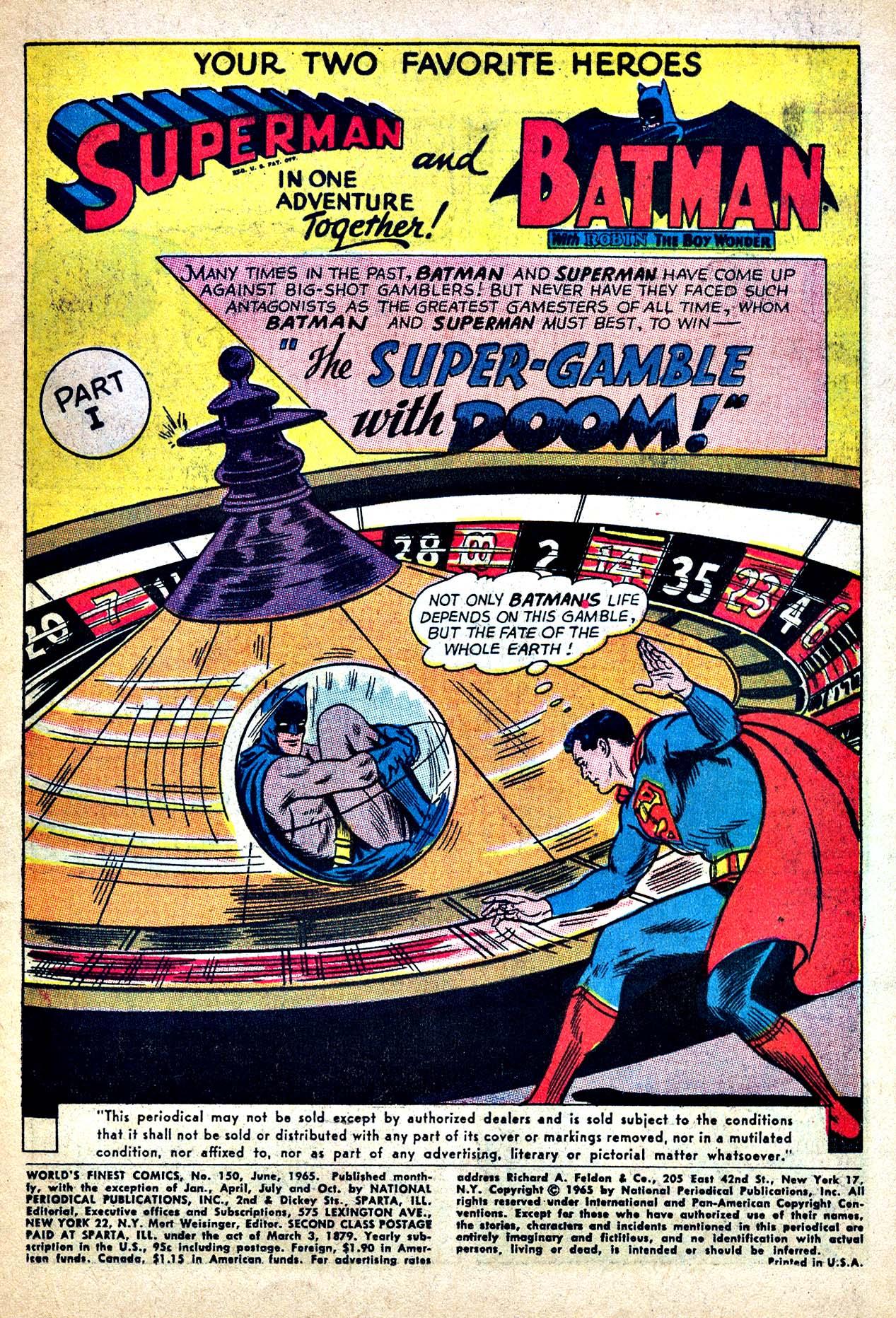 Read online World's Finest Comics comic -  Issue #150 - 3