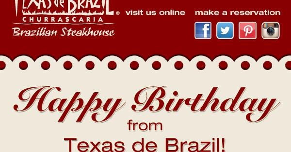 image relating to Texas De Brazil Printable Coupon named Texas de brazil birthday coupon / Inns off las vegas strip
