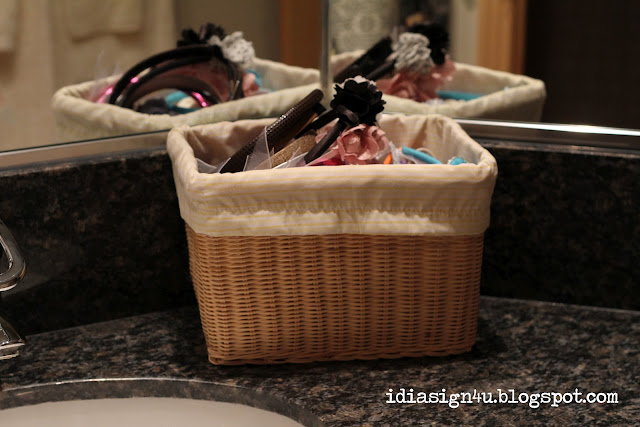 DIY Hair Accessory Station for Organization | Recycling Tin Cans by ilovedoingallthingscrafty.com