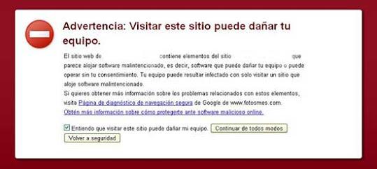 Infecciones con software malintencionado y sus efectos en el posicionamiento  en Google