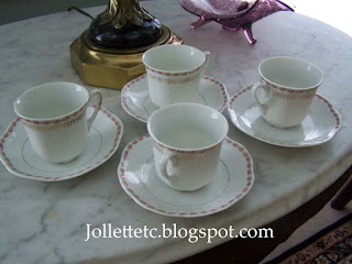 Teacup collection Rucker demitasse cups and saucers https://jollettetc.blogspot.com