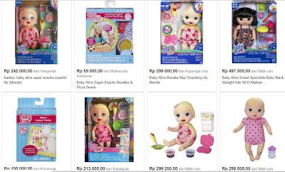Bisnis Mainan Anak Baby Alive