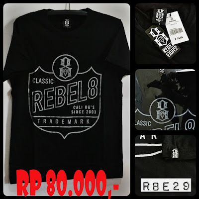 Kaos Distro Surfing Skate REBEL EIGHT Premium Kode RBE29