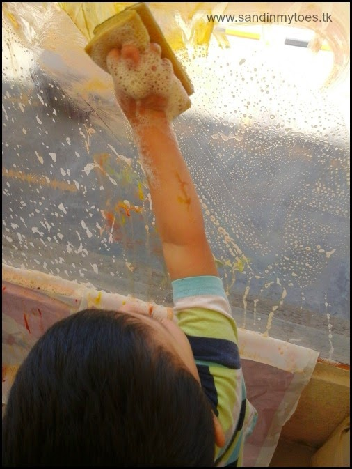 Cleaning up window paint