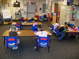 This is a great 100th Day of School activity. Students simply put their heads down and they can't bring them up until...