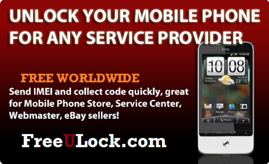 Unlock Your Mobile Phone FREE For Any Service provider